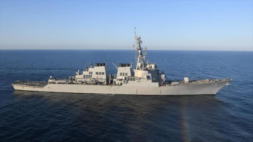 El destructor de misiles guiados USS Porter navega por el mar Mediterráneo, 9 de marzo de 2017. (Foto: AFP)