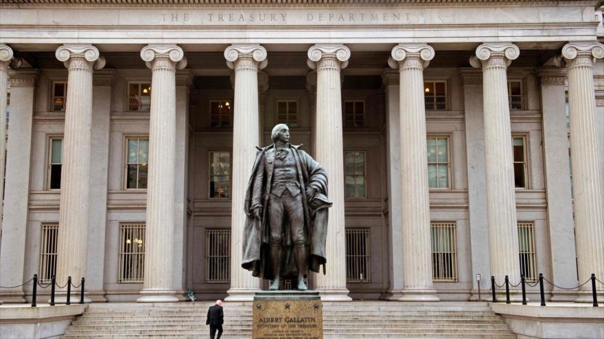 Edificio del Departamento del Tesoro de EE.UU. en Pennsylvania (este), enero de 2017. (Foto: AFP).