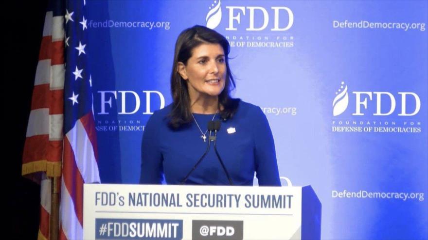 Haley exige reformas a la ONU y palestinos si quieren dinero
