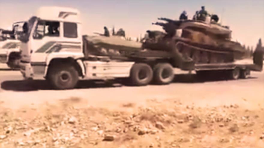 Vídeo: Siria envía otro gran convoy militar para ofensiva en Idlib
