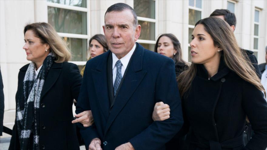 El expresidente de la Conmebol y exvicepresidente de la FIFA, Juan Ángel Napout, en una corte en Nueva York, 15 de noviembre de 2017. (Foto: AFP)