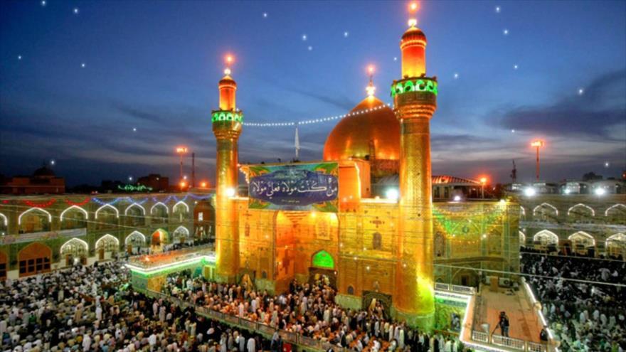 Mausoleo del Imam Ali (P) en la ciudad de Nayaf, en el centro de Irak.