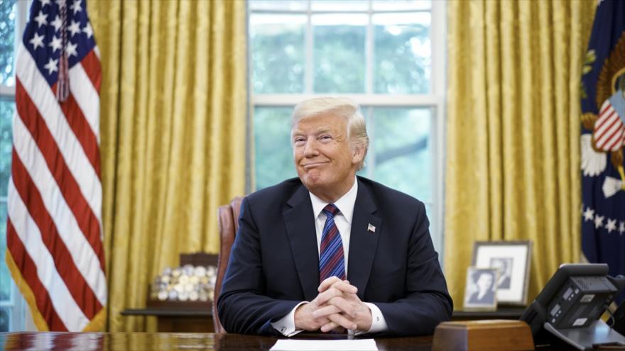 El presidente de EE.UU., Donald Trump, en el Despacho Oval de la Casa Blanca, Washington, 27 de agosto de 2018. (Foto: AFP)