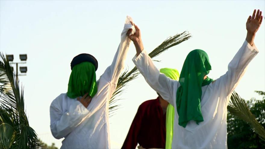 En un teatro al aire libre recrean en Irán escena de Eid al-Qadir