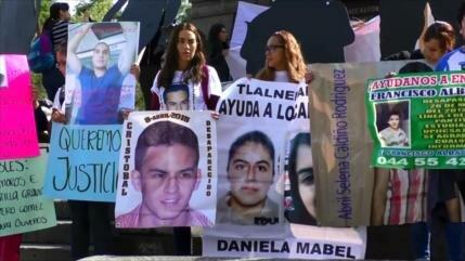Mexicanos protestan en Día Internacional por los Desaparecidos