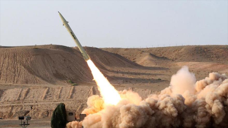 Irán prueba el misil Fateh (NP-110), fabricado y diseñado por los expertos persas.