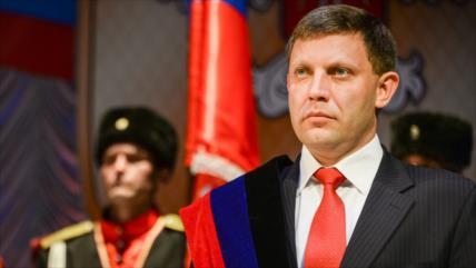 Muere en una explosión líder de la República de Donetsk