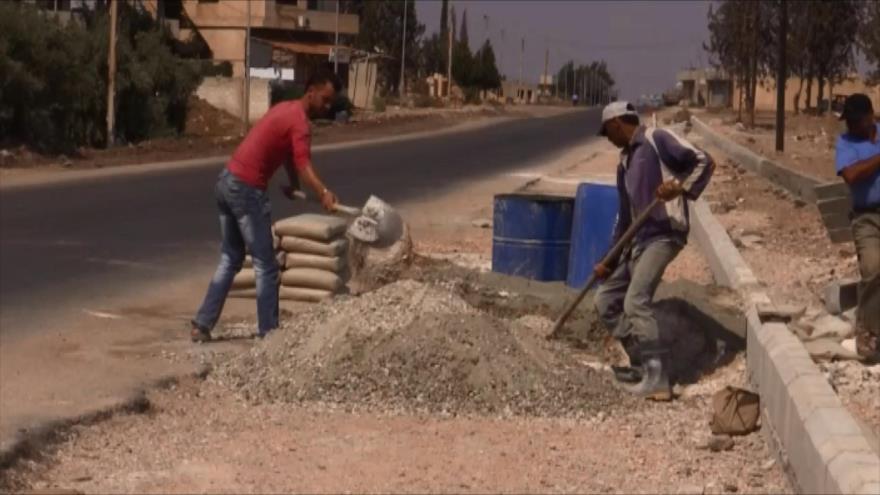 Normalidad en Daraa tras su liberación por el Ejército sirio