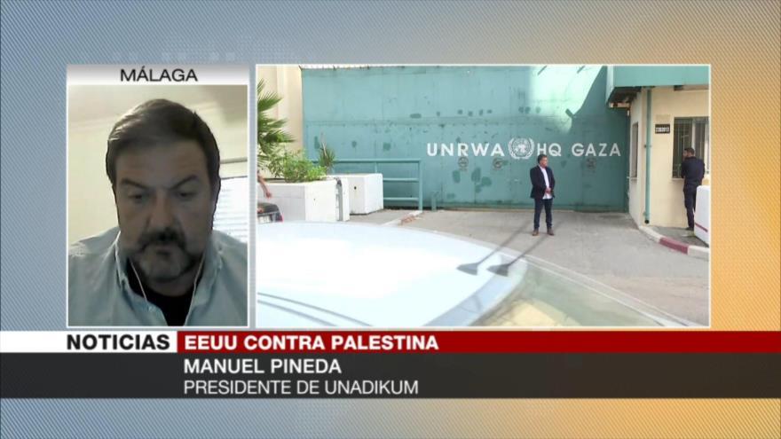 Manuel Pineda: Trump busca que el pueblo palestino desaparezca