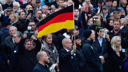 Continúan marchas de neonazis y antifascistas en Alemania