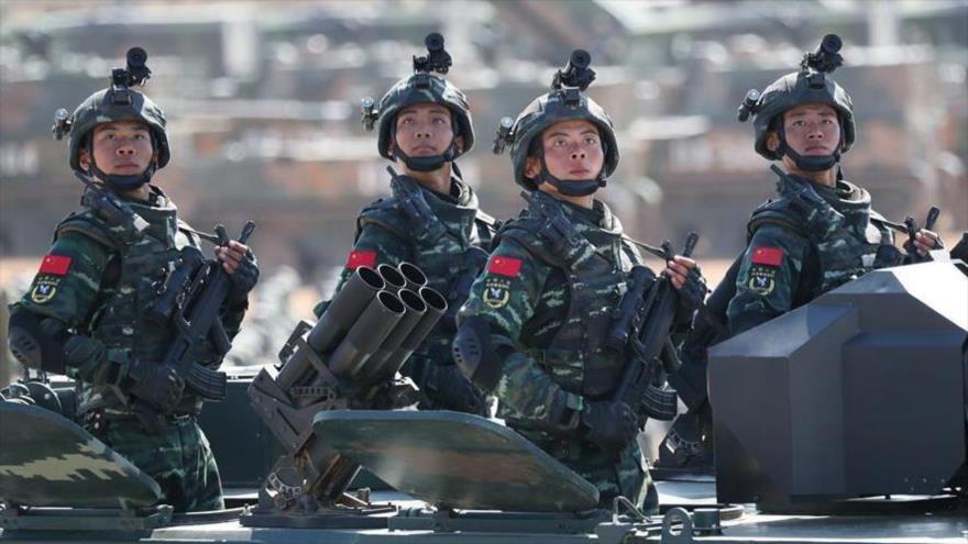 Soldados del Ejército de China durante maniobras militares.