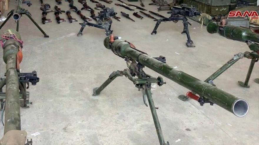 Vídeo: Ejército sirio incauta armas de EEUU e Israel cerca del Golán