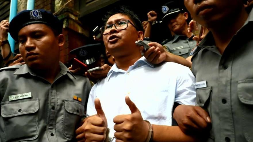 Cárcel para periodistas que investigaban matanza de rohingyas en Myanmar