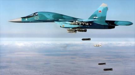 Vídeo: Rusia lanza masivos bombardeos contra terroristas en Idlib