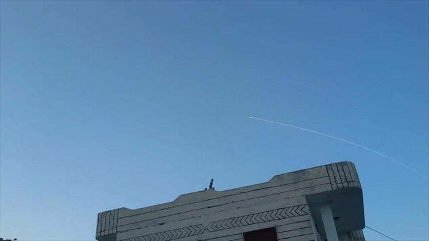 Vídeo: Momento en que defensa siria intercepta misil israelí