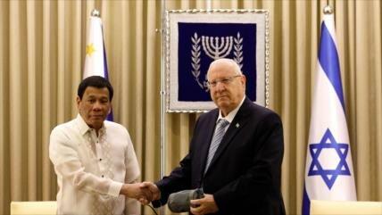 Duterte: Filipinas únicamente comprará armas israelíes