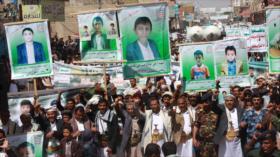 Protestan en Yemen contra crímenes saudíes