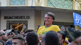 Acuchillan a candidato presidencial brasileño Bolsonaro