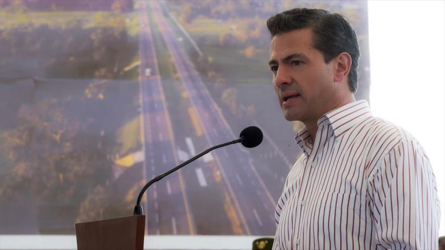 El presidente de México, Enrique Peña Nieto, habla en un acto en el estado de Tamaulipas, 6 de septiembre de 2018. (Foto: gov.mex)