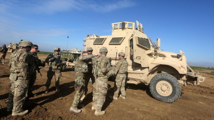 Fuerzas estadounidenses en la base militar de EE.UU. en la provincia siria de Al-Tanf.