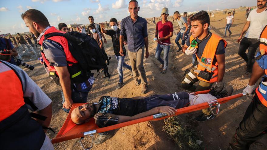 Fuerzas israelíes matan a un palestino y hieren a unos 400 en Gaza