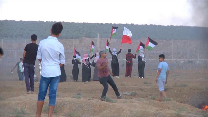 Un muerto y 400 heridos por represión israelí contra palestinos