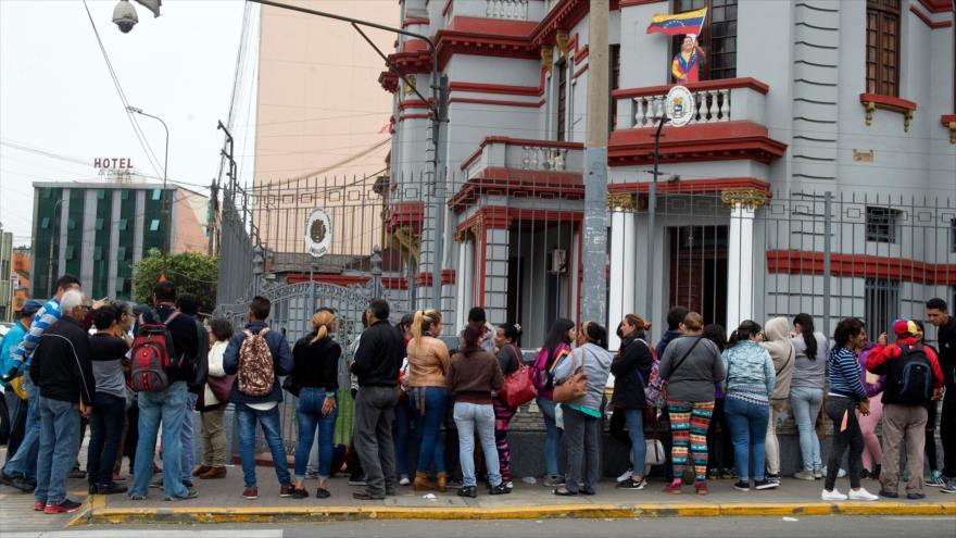 1695 migrantes venezolanos retornan a su país desde Perú y Brasil