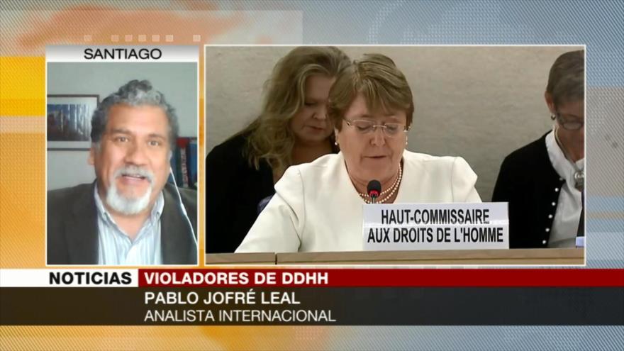 Jofré Leal: Bachelet tiene que defender al pueblo palestino