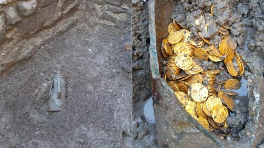 Vídeo: Hallan enorme cantidad de monedas de oro romanas en Italia