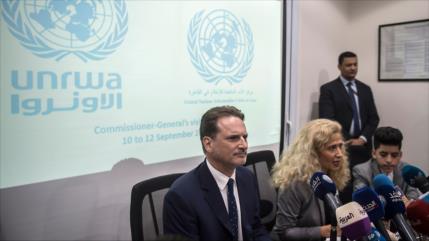 UNRWA lamenta recorte de fondos de EEUU y ya busca otros socios
