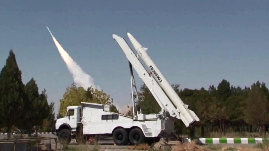 El momento de lanzamiento de misiles iraníes contra terroristas en el Kurdistán iraquí, 9 de septiembre de 2018.