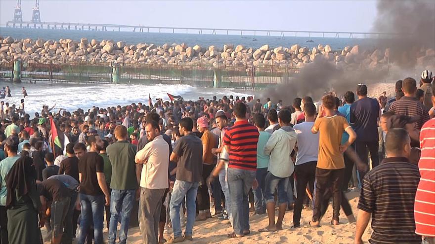 Séptima protesta marítima en Gaza para romper bloqueo israelí