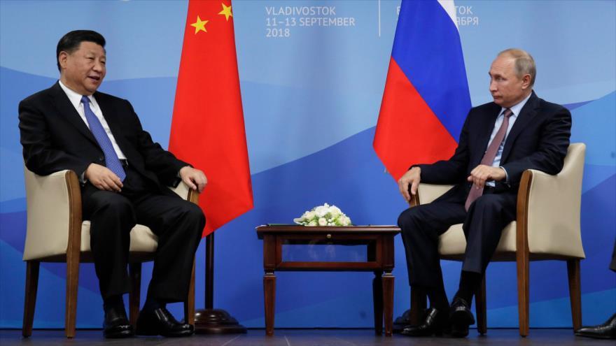 Putin: Rusia está dispuesta a aumentar lazos militares con China