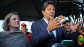 En Brasil Haddad sustituye a Lula como candidato presidencial de PT