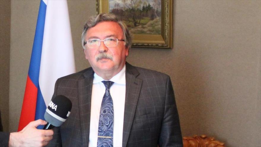 El representante permanente de Rusia ante la Agencia Internacional de Energía Atómica (AIEA), Mijaíl Ulyanov.