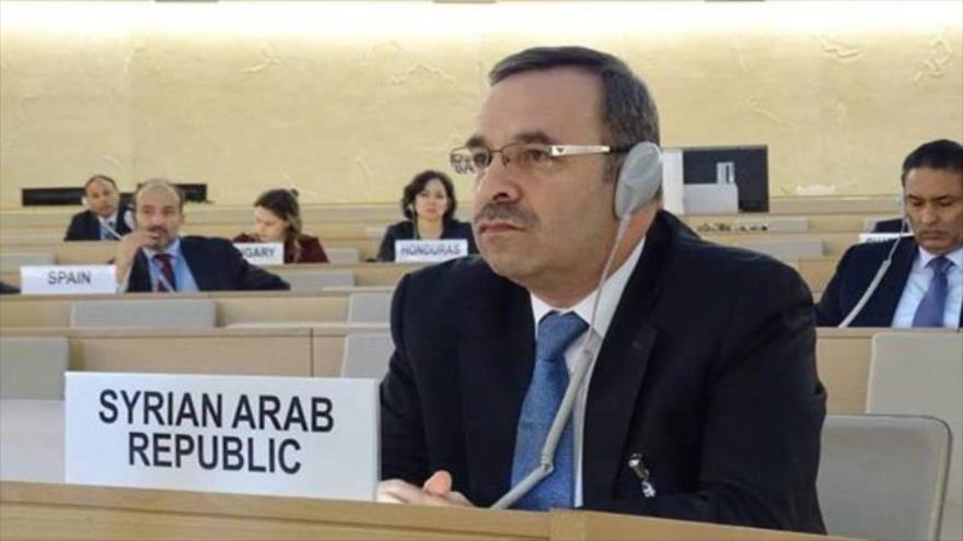 El representante permanente de Siria ante la ONU en Ginebra (Suiza), Hussam Edin Aala.