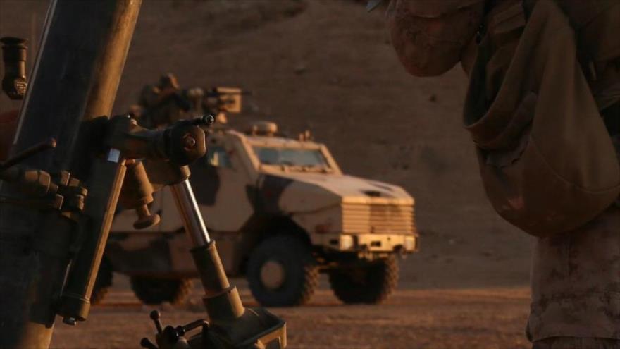 Un vehiculo militar Nexter Aravis de las Fuerzas Armadas de Francia en Siria.