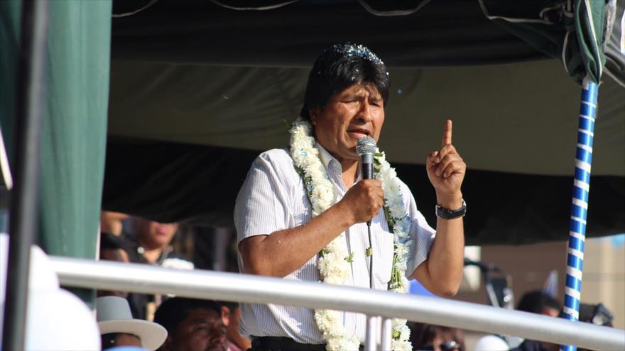 El presidente de Bolivia, Evo Morales, durante un acto en el departamento de Cochabamba, 12 de septiembre de 2018.