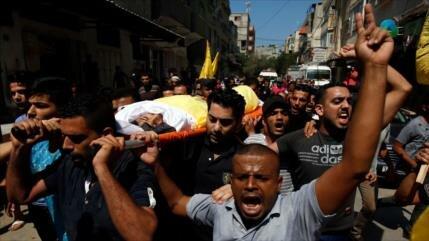 Celebran funeral de niño palestino asesinado por fuerzas israelíes
