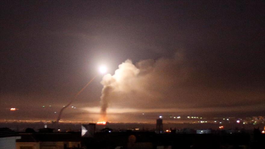 Fuerza aérea de Siria repele un ataque de Israel a Damasco