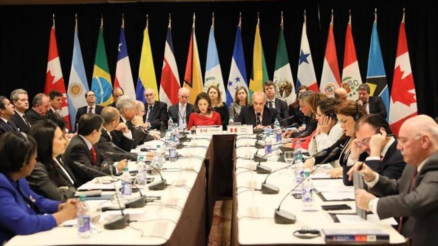 Una reunión del Grupo de Lima, formado por 14 países latinoamericanos.