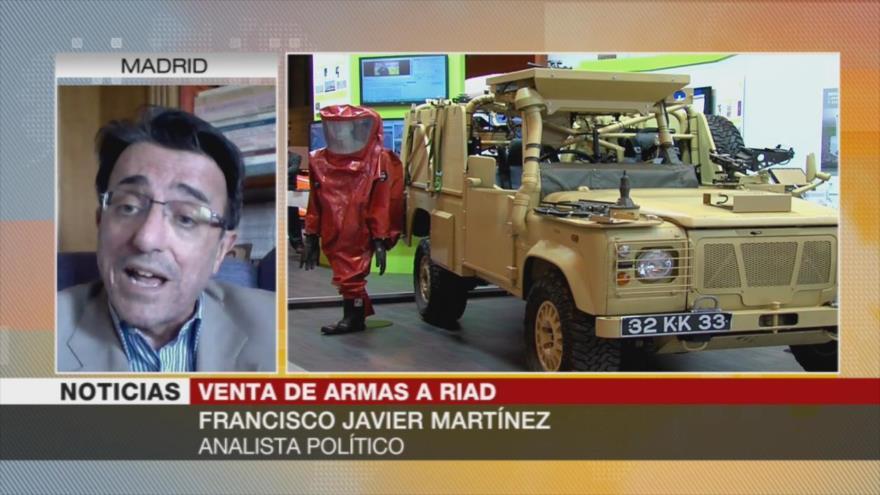 Martínez: España viola su propia legislación por venta de armas a Riad