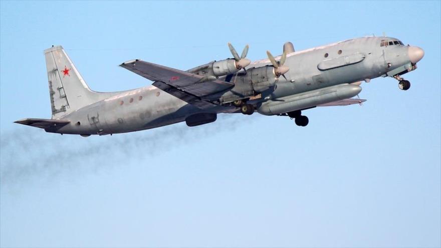 Un avión espía Ilyushin Il-20 de las Fuerzas Aeroespaciales de Rusia.