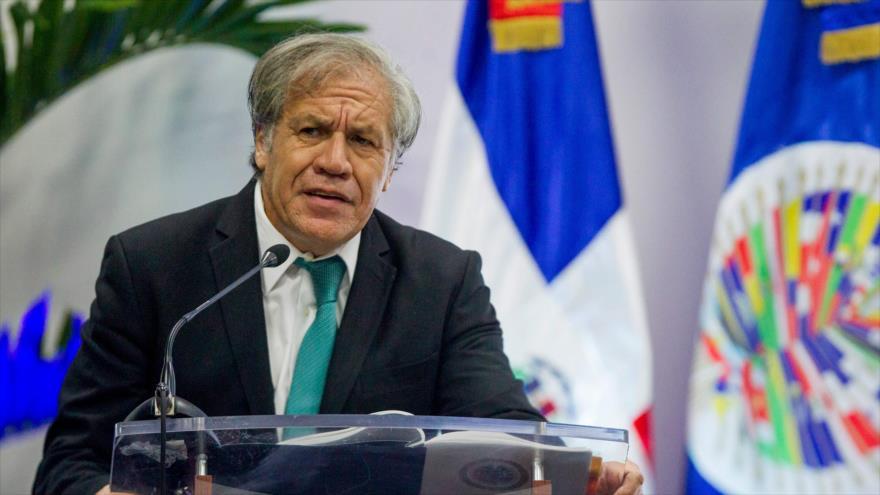 El secretario general de la Organización de los Estados Americanos (OEA), 28 de agosto de 2018. (Foto: AFP)