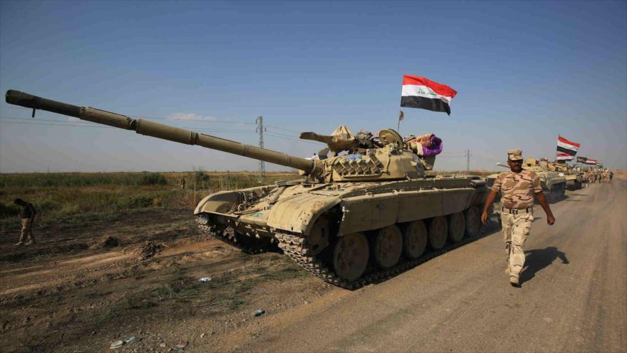 Tropas iraquíes desplegadas en Kirkuk. (Foto: AFP)