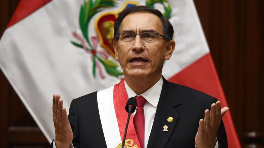 El presidente, Martín Vizcarra, pronuncia un discurso en el Parlamento, 28 de julio de 2018. (Foto: AFP)