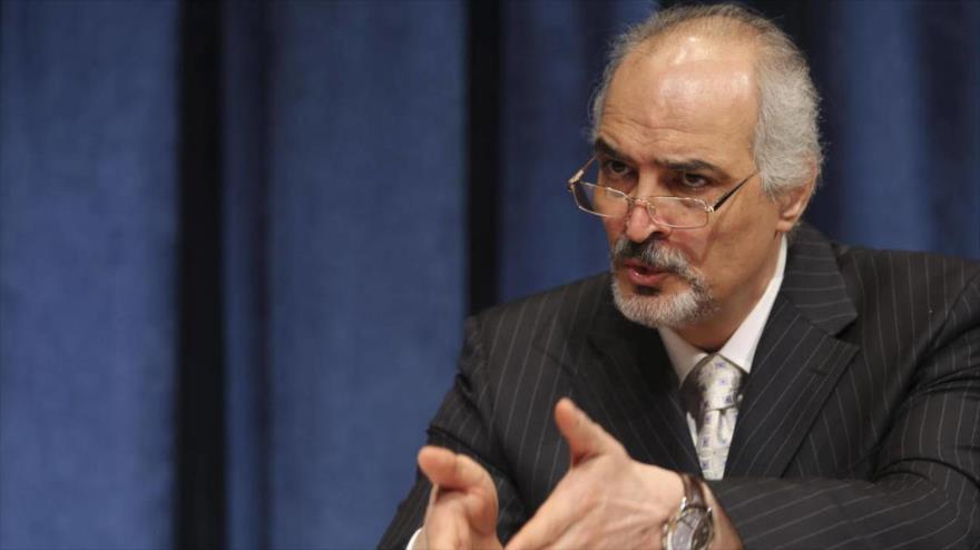 El representante de Siria ante la Organización de las Naciones Unidas (ONU), Bashar al-Yafari.