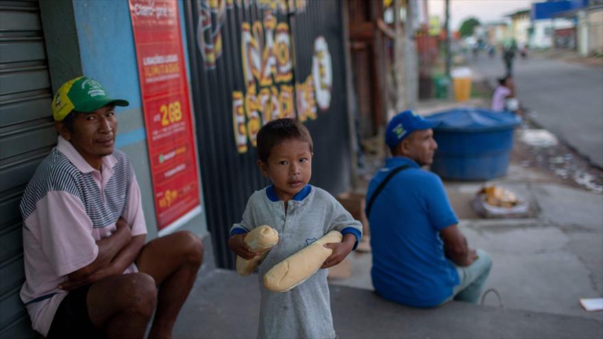 Refugiados venezolanos en el estado brasileño de Roraima (Fuente: AFP)