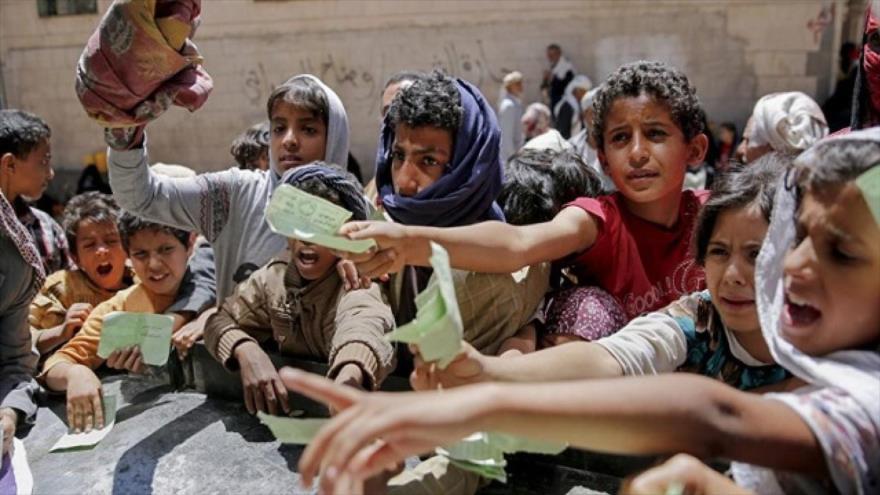 Más de 5 millones de niños de Yemen viven amenazados por el hambre