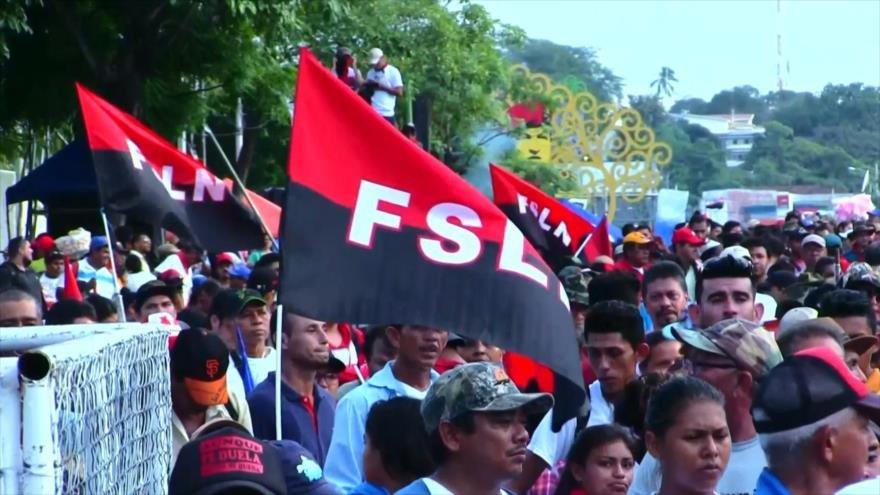 Sandinistas marchan pidiendo paz en Managua